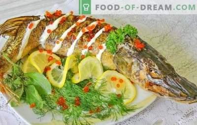 Hecht im Ofen: Schritt für Schritt Rezepte für gebackenen und gedünsteten Fisch. Bewährte Schritt-für-Schritt-Rezepte für Hecht im Ofen insgesamt und in Stücken