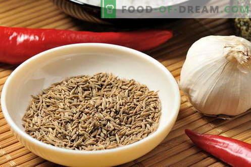 Zira - Eigenschaften und Verwendung beim Kochen. Rezepte mit Zira.