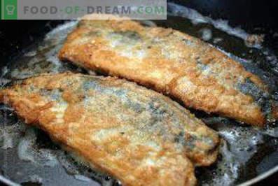 Wie man Makrelen in einer Pfanne zubereitet. Gebratene Makrele