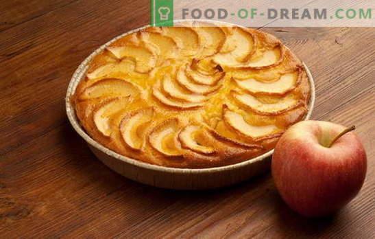 Ein einfacher und schneller Kuchen mit Äpfeln, Orangen und Hüttenkäse. Die besten Rezepte für eine einfache Torte mit Äpfeln für eine schnelle Hand