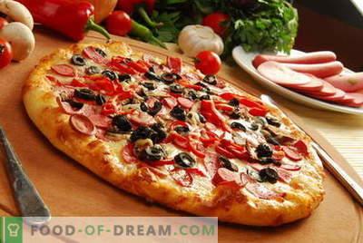 Pizzateig - die besten Rezepte. Wie man den Teig für Pizza zubereitet.