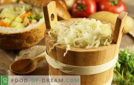 Schnelles Sauerkraut: Tricks, Tipps. Schnelles Sauerkraut mit Karotten, Knoblauch, Paprika