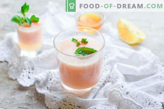Köstlicher Melonen-Smoothie mit Apfel und Grapefruit