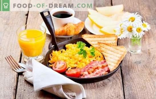 Was zum Frühstück schnell und lecker zubereitet wird: gesunde Mahlzeiten für jeden Tag. Eine Auswahl an Schnellrezepten zum Frühstück der einfachsten Produkte