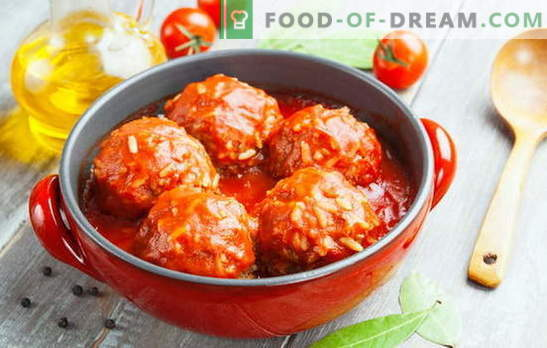 Fleischbällchen mit Reis - Fleisch, lecker, Favorit! Lassen Sie uns Fleischbällchen mit Reis kochen: Wir werden unsere Angehörigen und uns selbst erfreuen
