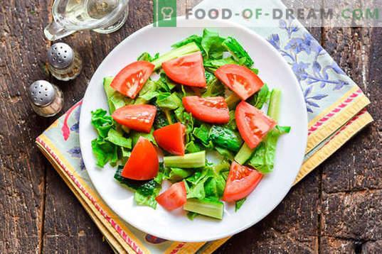 Diätetischer Salat mit Hühnerbrust ohne Mayonnaise