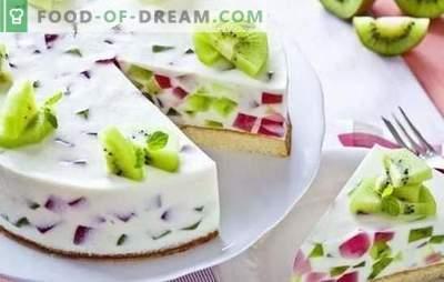 Koogi tarretis ja puuviljad: värviline magustoit tee jaoks! Koogide variandid želee ja puuviljade, marjade, kodujuustu ja küpsistega