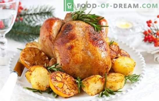 Truthahn mit Kartoffeln: ein vielseitiges Gericht für einen festlichen Tisch und ein Familienessen. Zubereitung von Truthahn mit Kartoffeln
