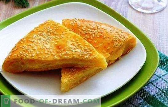 Käsetortillas auf Kefir sind ein multinationales Produkt. Kuchenvariationen mit Käse auf Kefir: mit Kürbis, Zwiebel