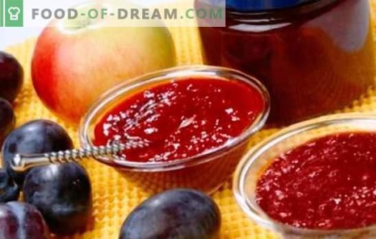 Marmelade aus Äpfeln und Pflaumen - bernsteinfarbene Süße zum Tee und zum Backen. Die besten Rezepte für duftende Marmelade aus Äpfeln und Pflaumen