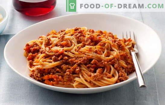 Spaghetti mit Hackfleisch und Spaghetti mit Hackfleisch und Tomatenmark - Favorit! Die besten Rezepte für Spaghetti mit Hackfleisch: Es ist unmöglich, an