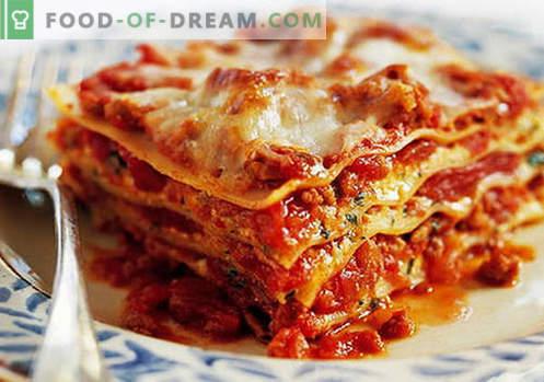 Lavash Lasagna - die richtigen Rezepte. Wie man schnell und lecker Lasagne aus Pita kocht.