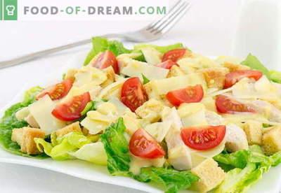 Caesar-Salat mit Hühnchen - die besten Rezepte. Wie man richtig und lecker einen Salat