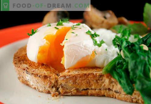 Eiersandwiches sind die besten Rezepte. Wie schnell und lecker Brötchen mit Ei kochen.