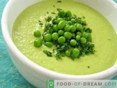 Grüne Erbsencremesuppe