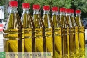 Lagerung von Sonnenblumenöl