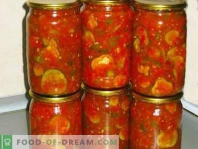Gurken in Tomatensauce für den Winter