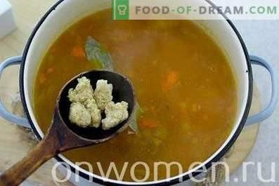 Suppe mit Galushki