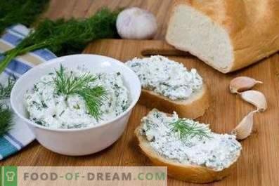 Hüttenkäse mit Gemüse und Knoblauch