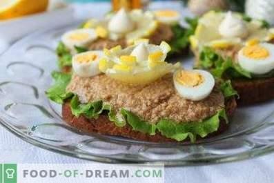 Lebertran-Sandwiches