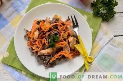 Buchweizennudeln mit Hähnchen und Gemüse