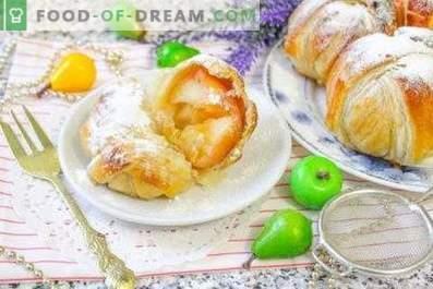 Äpfel im Blätterteig, im Ofen gebacken