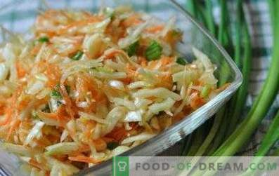 Salades au chou et au vinaigre