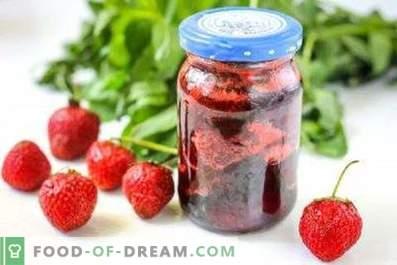 Erdbeermarmelade mit Minze