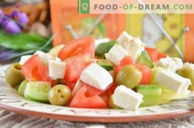 Wie man griechischen Salat zubereitet