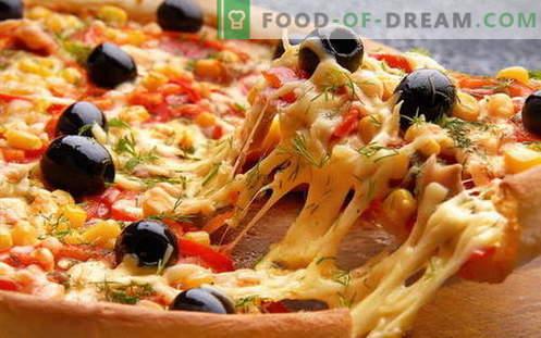 Italienische Pizza kochen und den Kühlschrank befreien