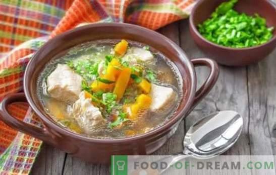 Schweinefleischsuppe mit Kartoffeln - einfache und wohlriechende Rezepte. Wie man eine reichhaltige Suppe für Schweinefleischsuppe mit Kartoffeln kocht
