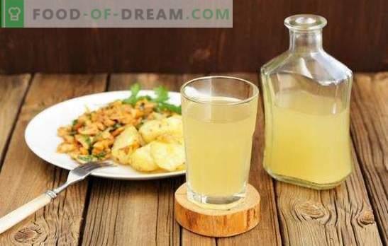 Rezepte für Schritt für Schritt zum Erfrischen von hausgemachtem weißem Kwas. Ein einzigartiges, gesundes und erfrischendes Getränk auf Ihrem Tisch!